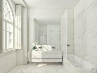 Capuchos - Stone Capital / Turon Casas de banho modernas por Onstudio Lda Moderno