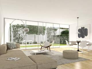 Conde 35 - Stone Capital Salas de estar modernas por Onstudio Lda Moderno