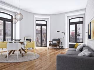 Duque de Loulé 42 - Estoril Real Estate Salas de estar modernas por Onstudio Lda Moderno
