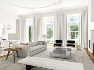 Liberdade 12 - Stone Capital Salas de estar modernas por Onstudio Lda Moderno