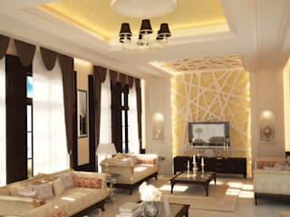 Interior Villa - Saudi Arabia by SPACES Architects Planners Engineers Mediterranean