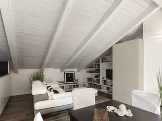 MANSARDA&TERRAZZO: Soggiorno in stile  di Viu' Architettura