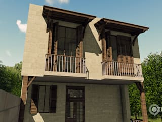 Hakan Özerdem - Mimari Proje Görselleştirme ve 3D Tasarım – İkiz Villa - Balıkesir:  tarz Villa