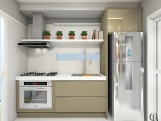 Área Social - Apartamento Cozinhas modernas por Caroline Berto Arquitetura Moderno
