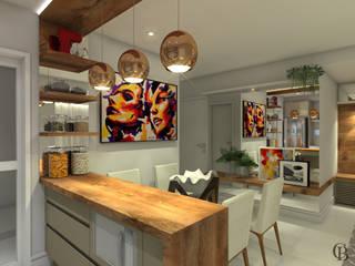 Área Social - Apartamento por Caroline Berto Arquitetura Moderno