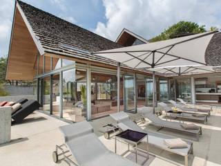 Original Vision Modern style balcony, porch & terrace