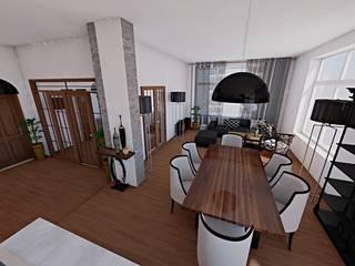 Mieszkanie/Warszawa: styl , w kategorii  zaprojektowany przez Midnight Interiors