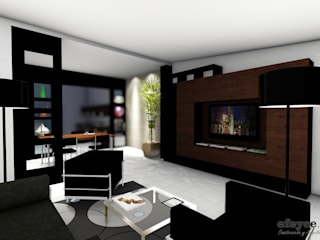 Modern living room by efeyce Modern