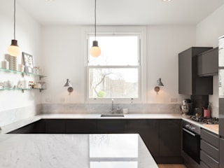 Kilburn Chimney Flat: modern Kitchen by Collective Works