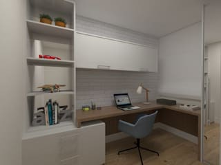 Modern Study Room and Home Office by Studio Bertoluci Modern