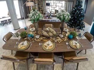 Decoração fora do tradicional, trazendo sofisticação para sua noite de natal!:   por Karoline Martins - Arquitetura & Interiores