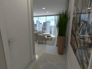 Pasillos, vestíbulos y escaleras de estilo moderno de Skala Arquitetura e Engenharia Moderno