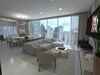 Apartamento RDM Salas de estar modernas por Skala Arquitetura e Engenharia Moderno