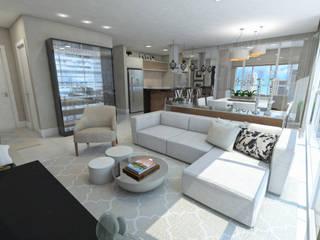Salones de estilo moderno de Skala Arquitetura e Engenharia Moderno