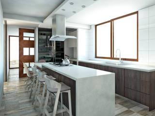 CASA PV: Muebles de cocinas de estilo  por NEF Arq.