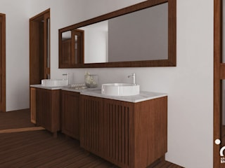 Tropical style bathrooms by Samma Studio Tropical