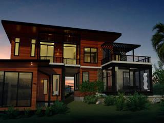 บ้านเล่นระดับ บรรยากาศธรรมชาติ โดย PRECIO HOUSE