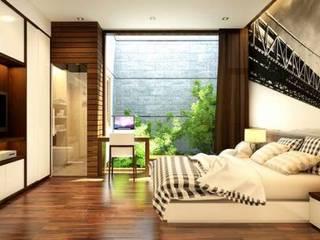 Không gian xanh mang đến sự thoải mái:  Phòng ngủ by Công ty TNHH Thiết Kế Xây Dựng Song Phát