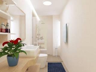 Tông màu sáng hiện đại Phòng tắm phong cách châu Á bởi Công ty TNHH TK XD Song Phát Châu Á Đồng / Đồng / Đồng thau