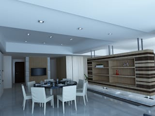 Modern dining room by YU SPACE DESIGN Modern