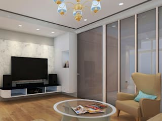 project-6007 Modern Living Room by YU SPACE DESIGN Modern