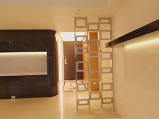 Project-3008 Modern Corridor, Hallway and Staircase by YU SPACE DESIGN Modern
