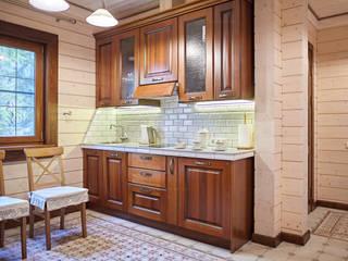 Компактная кухня для бани: Встроенные кухни в . Автор – ODEL