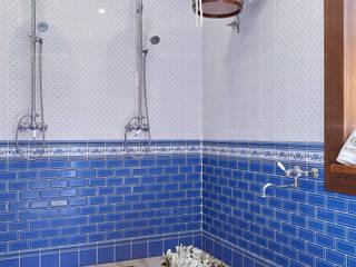 Душевая с обливным ведром в бане: Бани в . Автор – ODEL