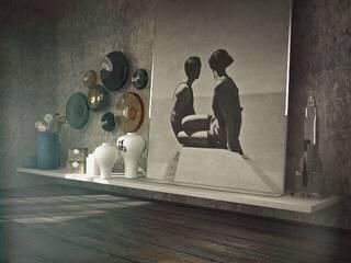 Проект дома у Икшинского водохранилища Гостиная в стиле модерн от ID project Модерн