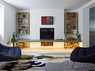 The Landscape House: modern Living room by Space Group Architects
