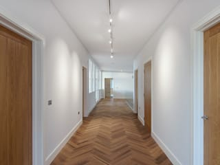 Rothbury Northumberland New Build Modern corridor, hallway & stairs by Model Projects Ltd Modern