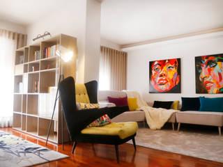 Decoração de sala por IC interiores Moderno