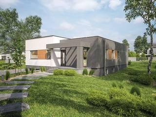 Rumah prefabrikasi dari rangka baja di Spanyol FHS Casas Prefabricadas Pusat Perbelanjaan Modern Aluminium/Seng Multicolored