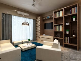 Borivali Residence:  Living room by Midas Dezign,Asian
