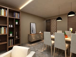 Borivali Residence:  Dining room by Midas Dezign,Asian