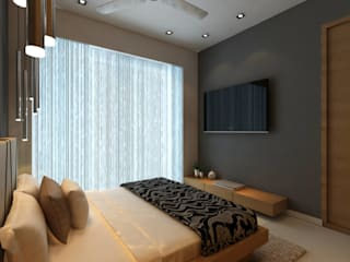 Borivali Residence:  Bedroom by Midas Dezign,Asian
