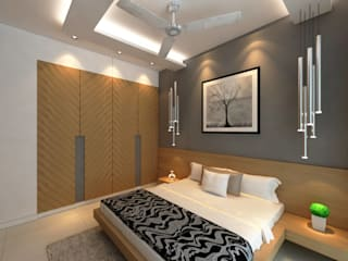 Borivali Residence Asian style bedroom by Midas Dezign Asian