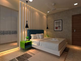 Ashish Rai Residence:  Bedroom by Midas Dezign,Asian