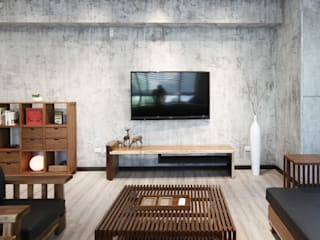 森畊空間設計 Living roomAccessories & decoration Solid Wood Grey