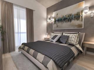 camera padronale: Camera da letto in stile in stile Moderno di studiosagitair