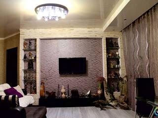 Квартира на Чистопольской: Гостиная в . Автор – Студия Дизайна Интерьера ART ROOM