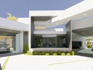 arquitecto9.com Single family home Concrete White
