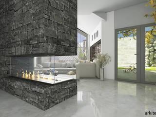ระเบียงและโถงทางเดิน โดย arquitecto9.com, โมเดิร์น