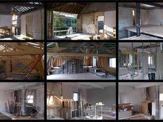 Renovation surelevation: Murs de style  par Jean-Luc TURQUIN