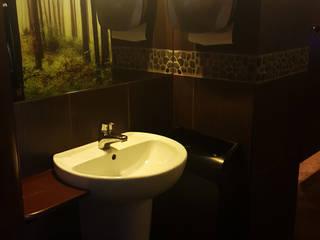 Dekory z otoczaków - szare otoczaki Bali Black Grey dekor: styl , w kategorii Łazienka zaprojektowany przez Lux4home™