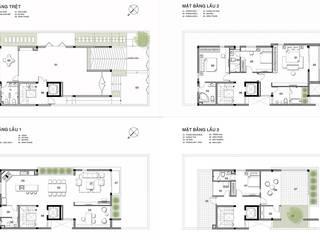 Nhà Phố Q2:  Sàn by thiết kế kiến trúc CEEB
