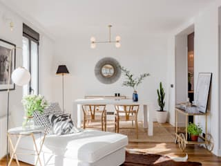 Phòng khách phong cách Bắc Âu bởi CABALLERO Fotografía de Arquitectura, Inmobiliaria e Interiorismo Bắc Âu