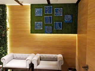 Lounge Decor at DLF 4, Gurugram Modern living room by Grecor Modern