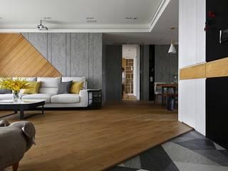 辰林設計 Modern living room Yellow