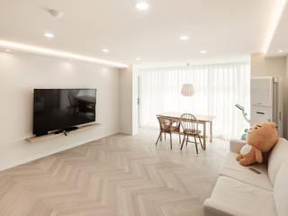 봄디자인 Salas de estilo minimalista